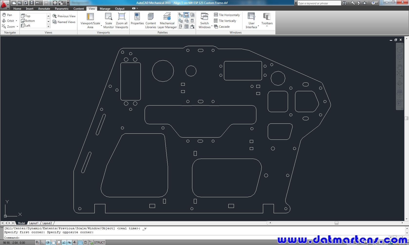Align t rex 600 esp frame get a copy helifreak for Copy cad